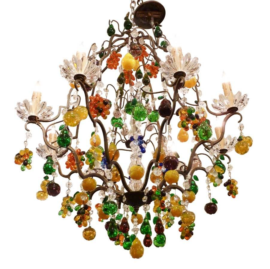 French fruit chandelier with la fanion crystal i just really like french fruit chandelier with la fanion crystal i just really like this fixture aloadofball Choice Image