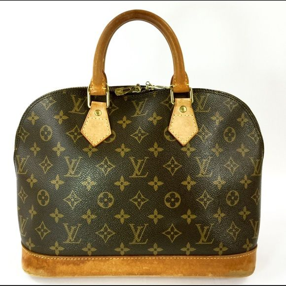 "AUTHENTIC LOUIS VUITTON ALMA CANVAS TOTE GOOD COND UP FOR QUICK AND EASY SALE IS THIS 100% AUTHENTIC USED IN GOOD CONDITION LOUIS VUITTON ALMA CANVAS TOTE MONOGRAM BAG M51130  Louis Vuitton Number: VI0969 Material:	 Monogram Canvas, Leather Size(inch): W 11.8 × H 9.3 × D 6.3 "" Handle (inch): 3.5 "" Country of Manufacture: FRANCE SKU number: 8607JS Louis Vuitton Bags Totes"