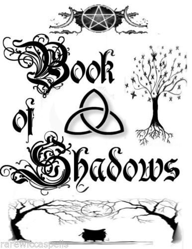 Cover Wicca Book of Shadows Parchment page Pagan Occult