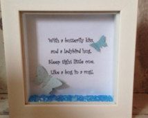 Wall Art Poem with 3D Butterflies in shadow box by FunkyMakesbyDi