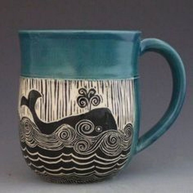 30+ Cute Ceramic Mug Ideas with Various Color Variation #ceramicmugs