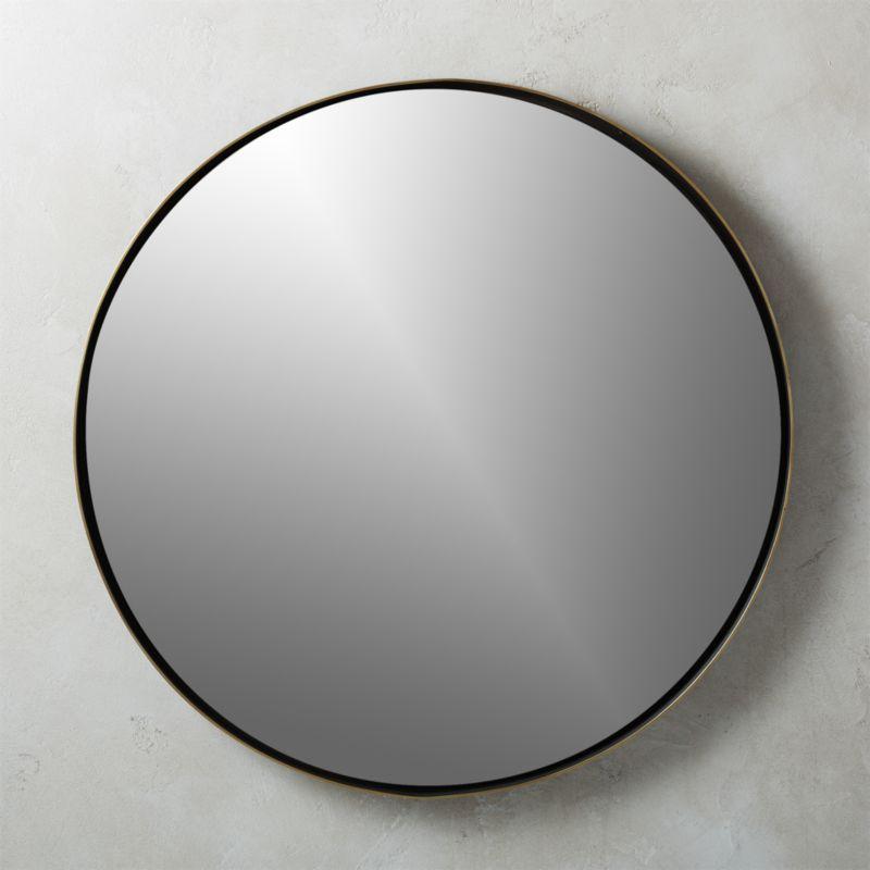 Shop Shadow Circle Wall Mirror 32 5 Simple Round Mirror