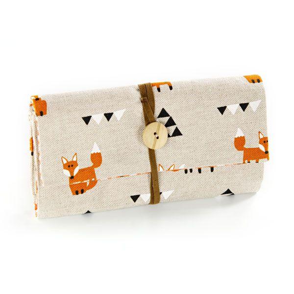 Nähpaket Portemonnaie Fuchs - natur - orange - schwarz - Taschenwelt ...