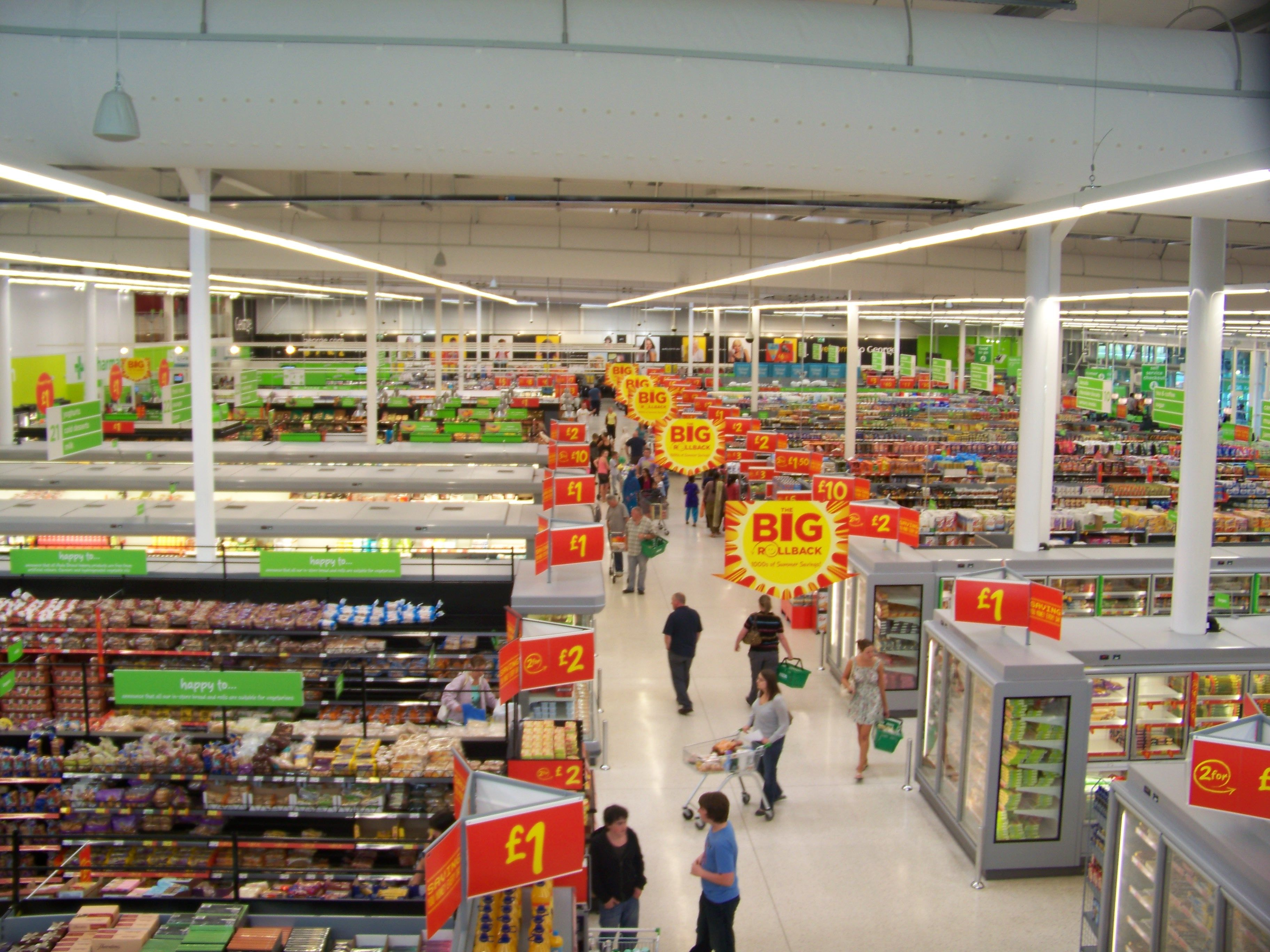 Grocery Store Aisle Organization
