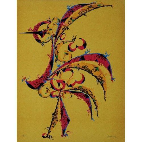 "Rafael Alberti, ""Letter G"", 1972 -Lithograph-  #ArtistOfTheWeek #poet #artist #lithographs  #pictureoftheday"