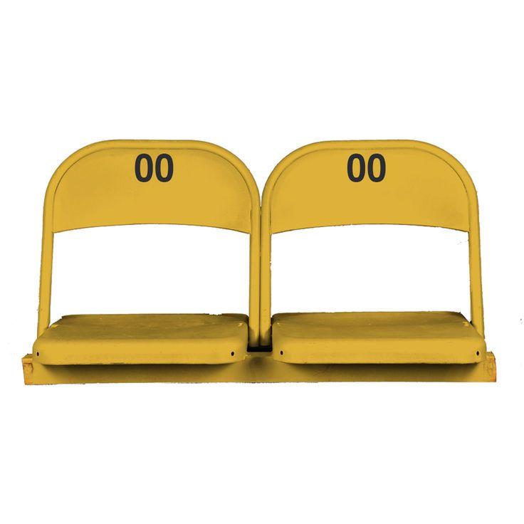 Fanatics Authentic Daytona International Speedway Dual Yellow Metal Chairs - $199.99