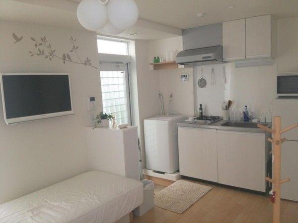 Ponsuke の部屋 玄関とキッチン 小さなリビングルーム インテリア レイアウト インテリア