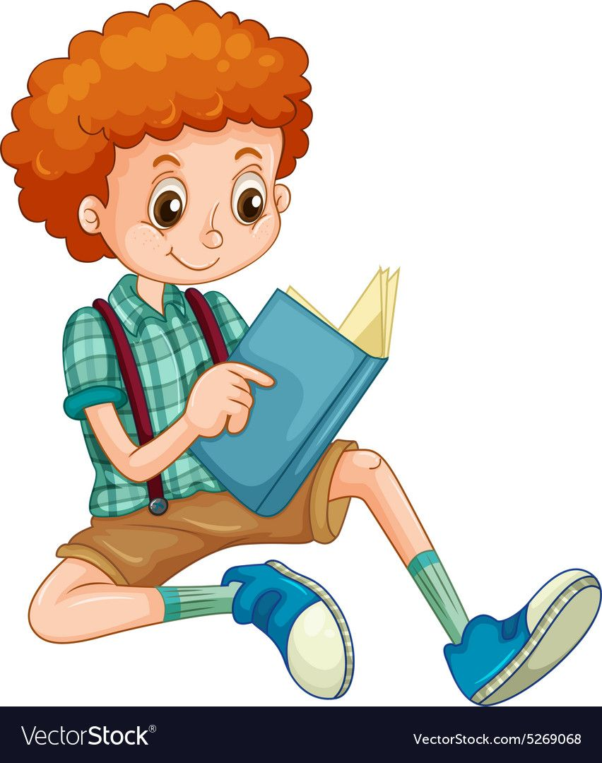 Boy With Red Curly Hair Reading A Book Download A Free Preview Or High Quality Adobe Illustrator Ai Eps Pdf A Kids Clipart Clipart Boy Children Illustration
