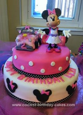 Coolest Minnie Mouse Birthday Cake Minnie mouse birthday cakes