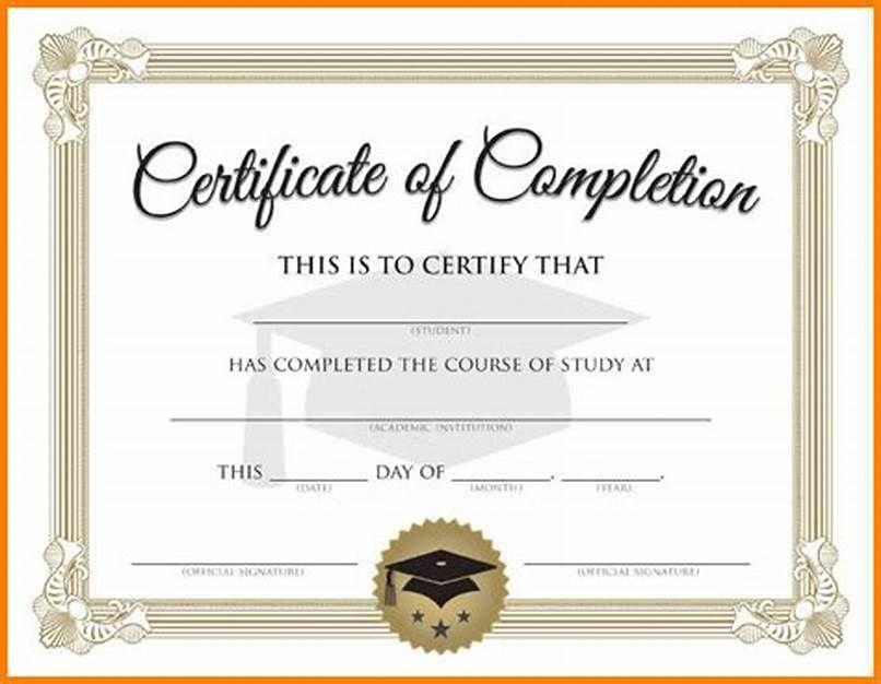 Free Printable Graduation Certificate Templates Graduation Certificate Template Certificate Of Completion Template Certificate Templates