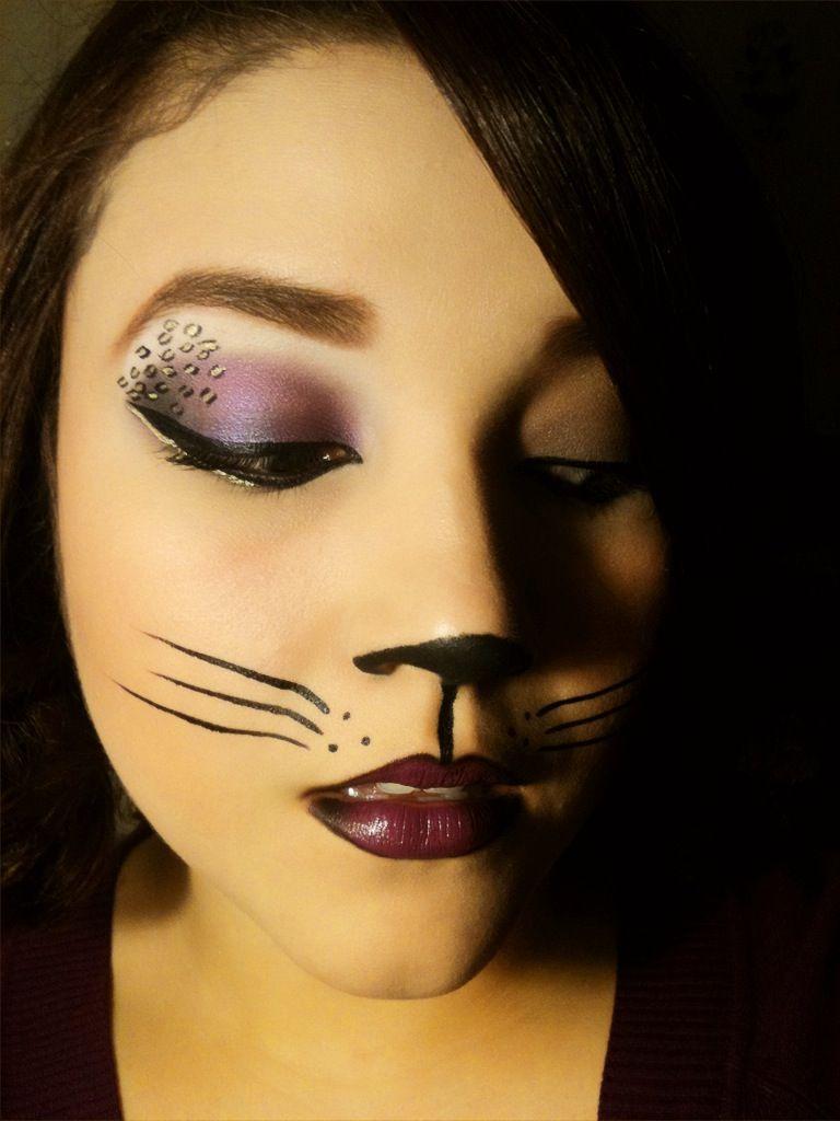 Cute Halloween Makeup Ideas | Cat halloween makeup, Halloween ...