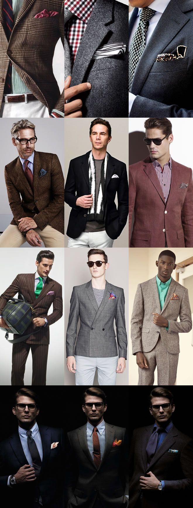 The pocket square lookbook inspiration fashion beans lookbook
