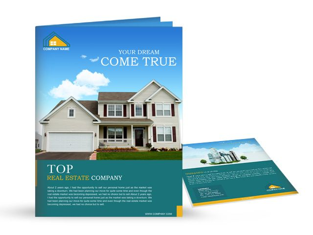 Make All Their Dreams Come True  Real Estate Brochure Design