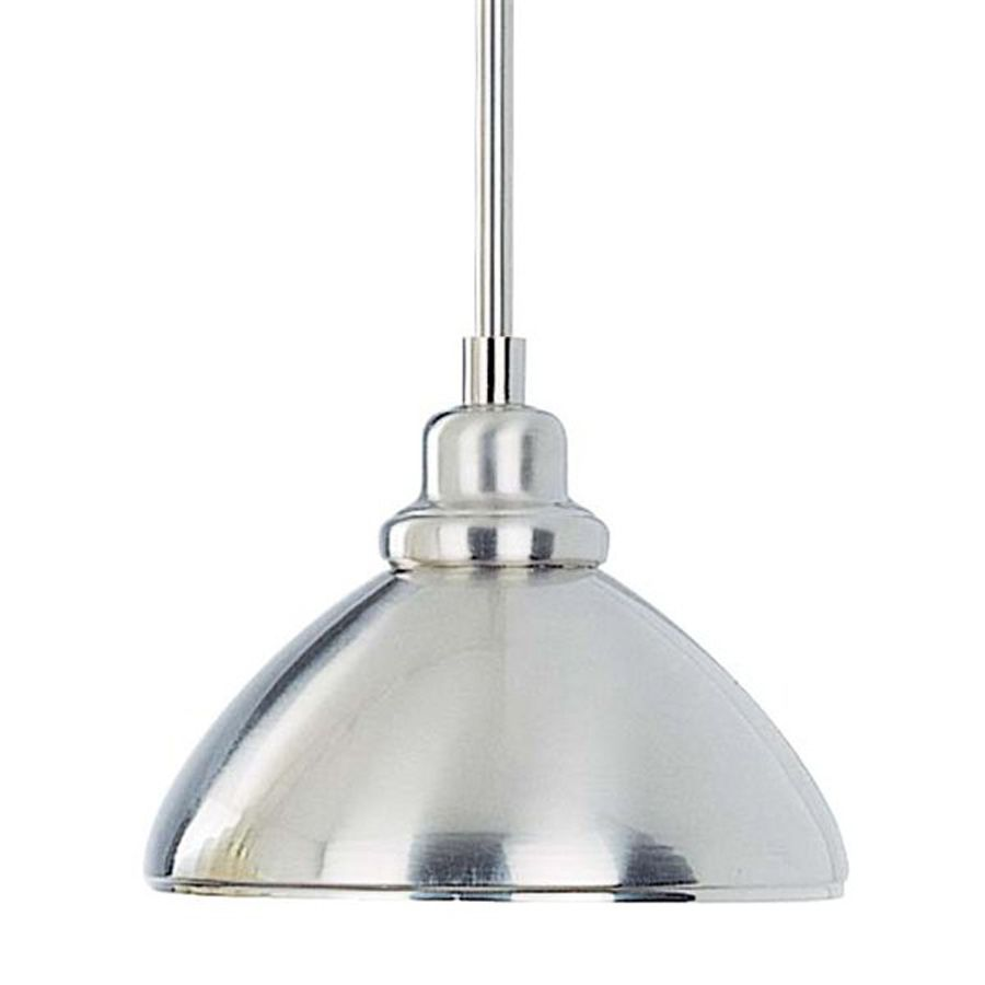 Volume International 8 25 In W Brushed Nickel Mini Pendant Light With Metal Shade At