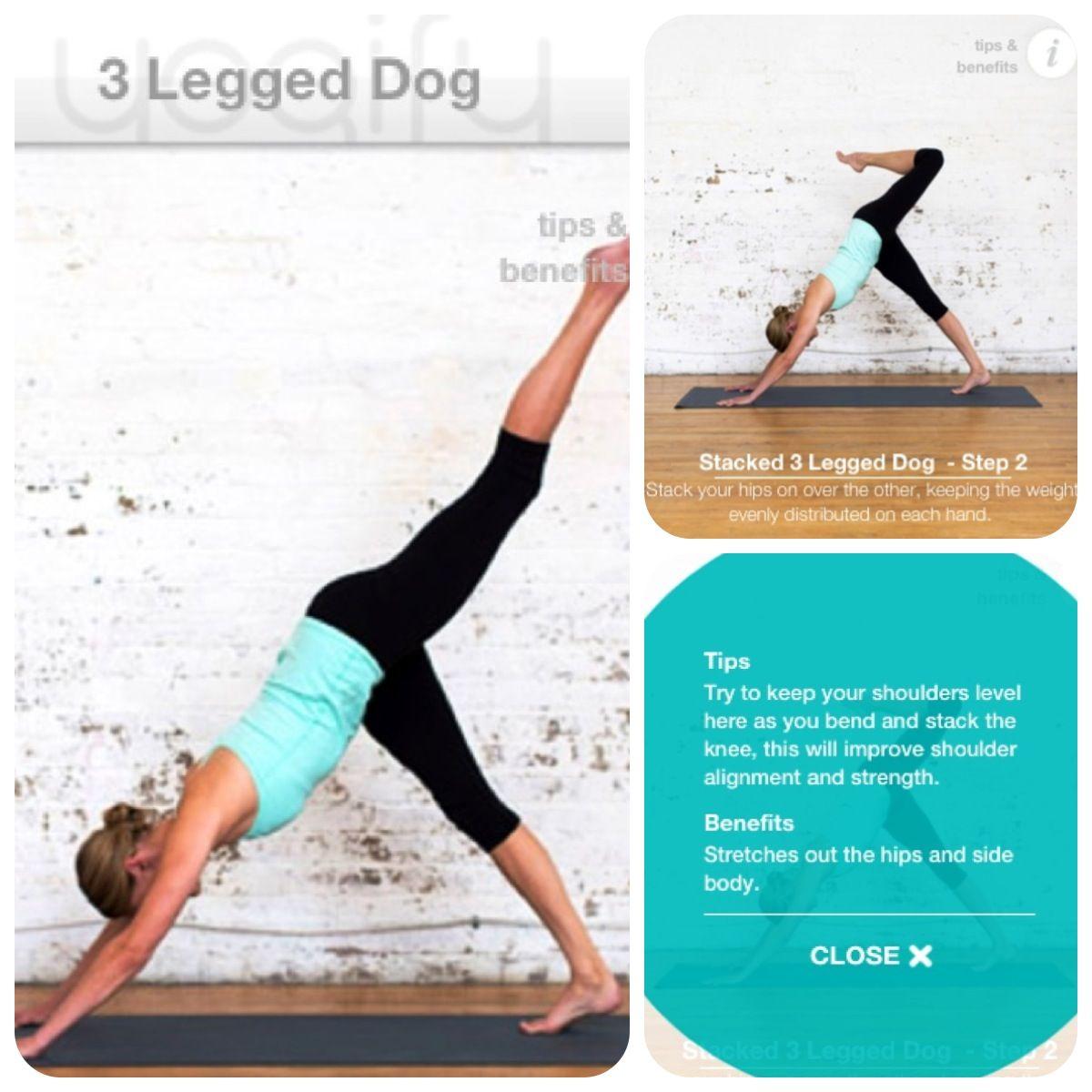 3 Legged Dog Stacked 3 Legged Upper Body Strength Hip Flexor Body Poses