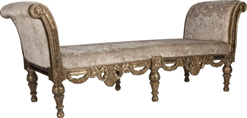 A LOUIS XVI-STYLE UPHOLSTERED AND SILVERED METAL REPOUSSÉ CHAISE ...