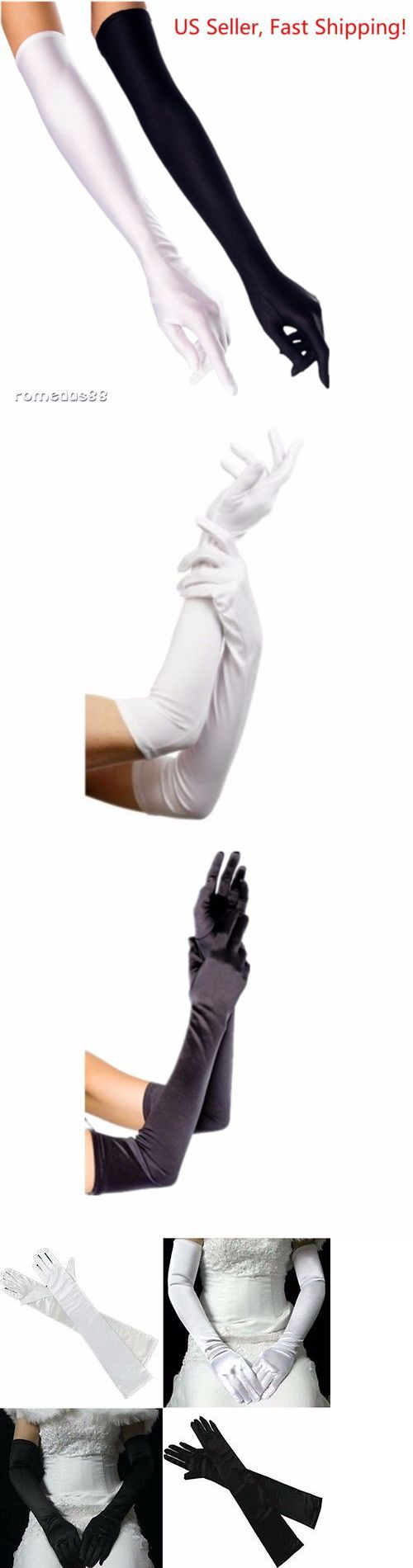 b0a06dc53 Gloves 98735: Dh Women S Evening Gloves 22 Long White Black Satin Finger  Gloves - 2 Pairs -> BUY IT NOW ONLY: $11.98 on #eBay #gloves #… | Gloves  98735 ...