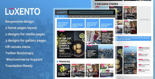 Luxento - Magazine WordPress theme | Portal, Editorial y Viajes