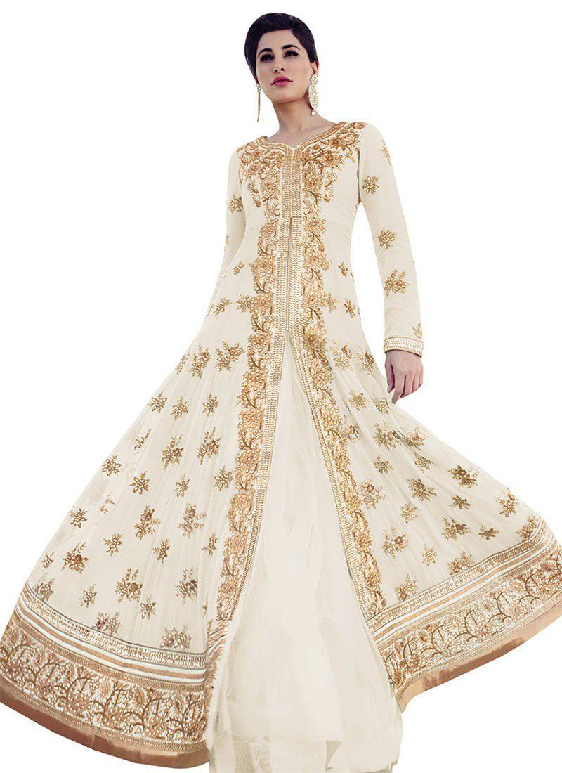 Buy Nargis Fakhri Floor Length Anarkali Suit, anarkali-suit Online Shopping, SLSFRC7318AR
