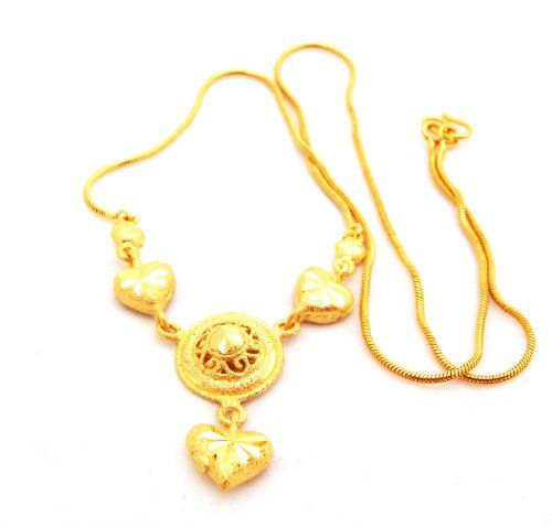 Thai Gold Necklace 22K 23K 24K THAI BAHT YELLOW GP GOLD 18 inch 75