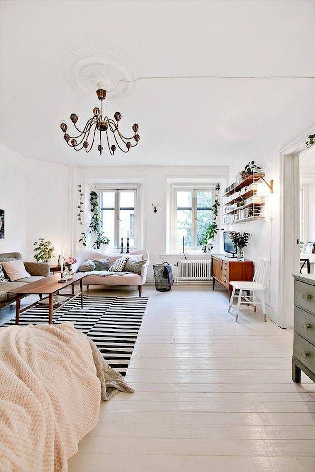 White Studio Apartment Apt Storage Design Deco