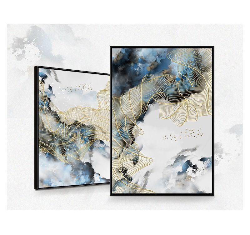 Toile Abstraite Ciel Bleu Decoration Murale Unique Toile