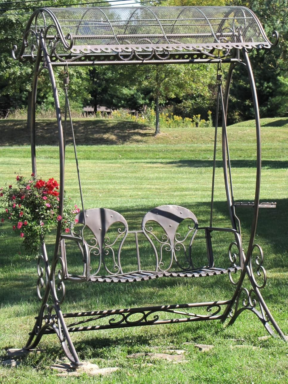 Hgtv is presenting a variety of garden swings in backyards on porches and for waterfront settings