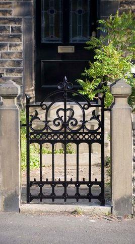 Garden front gate | Fer Forge | Jardins, Portillon jardin, Porte jardin