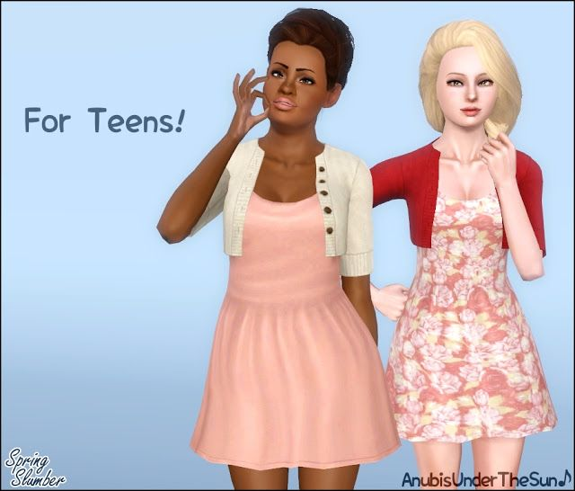 Anubis Under The Sun ♪: Spring Slumber ~ Dress with cardigan for teen-to-adult