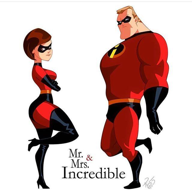 mr mrs incredible by our boy rickcelis mrincredible elastigirl rickcelis
