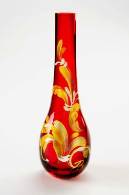 Holiday Painted Vase