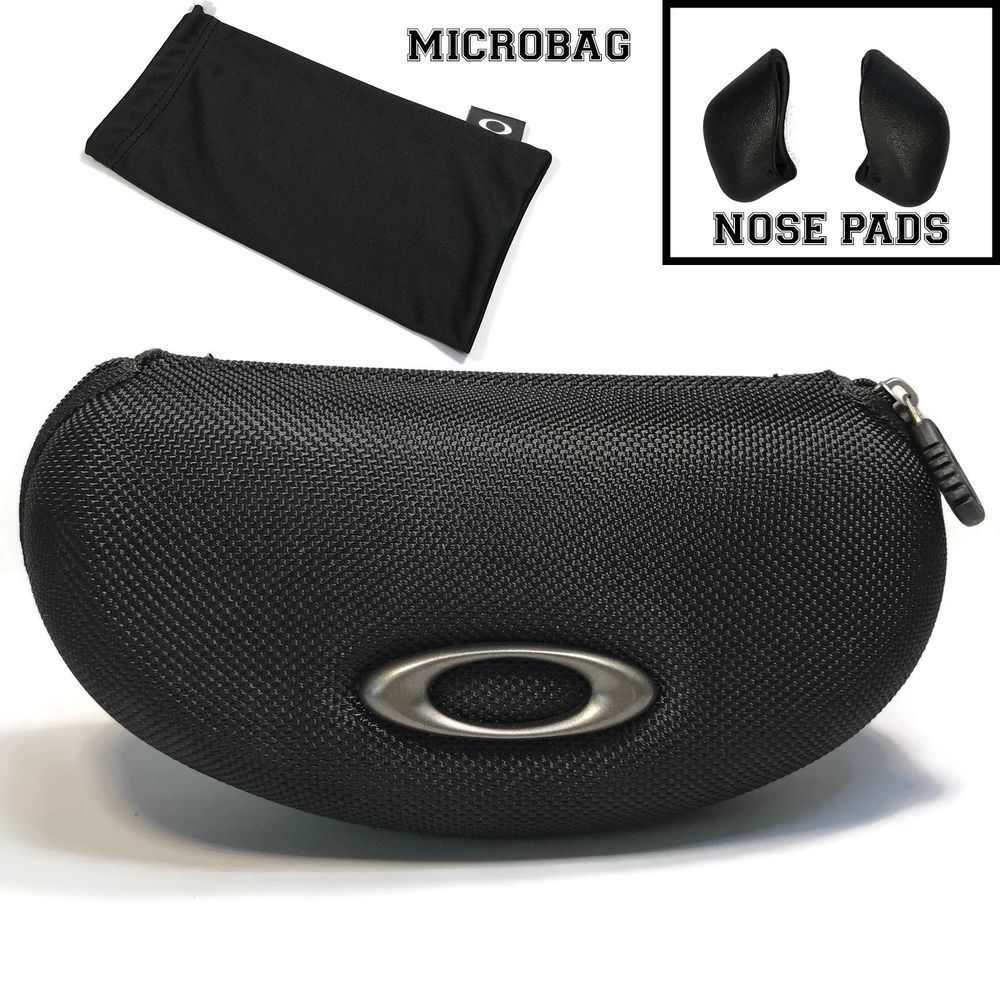 13cbdd9f5bc OAKLEY FLACK JACKET Sunglasses Cases with Microbag and Nose Pad Replacement   Oakley