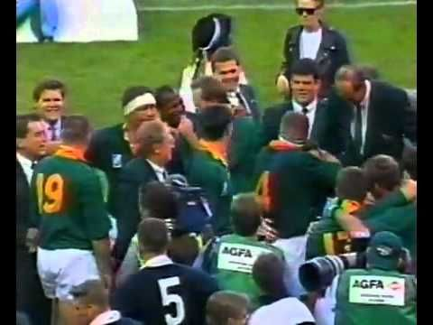 One Of The Most Memorable Moments In South African History Nelson Mandela And The Spring Bock Rugby Team At The 199 Rugby World Cup Rugby Team World Cup Final