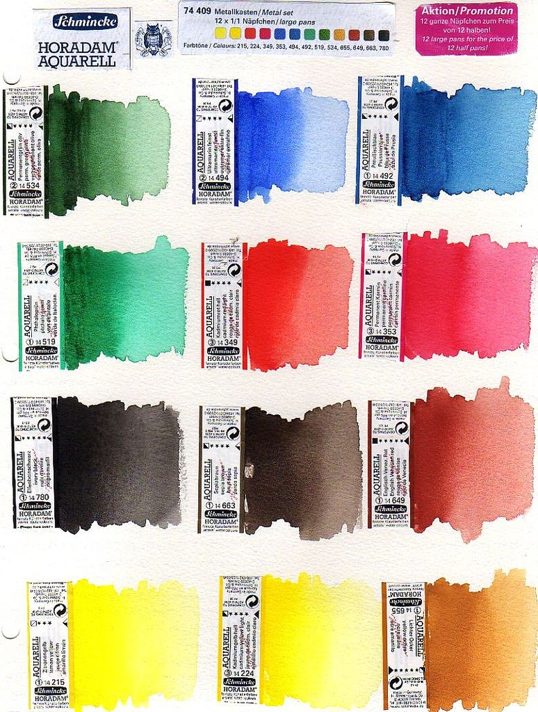 Schmincke Watercolor Set Watercolor Pool Colors Art Tutorials