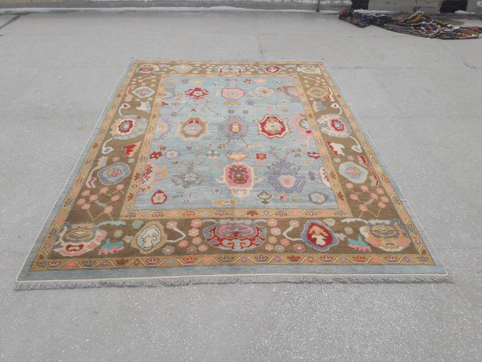 10 X 13 Oushak Rug 9 3 X 13 Ft Large Size Etsy In 2020 Turkish Oushak Rugs Rugs On Carpet Oushak Rug