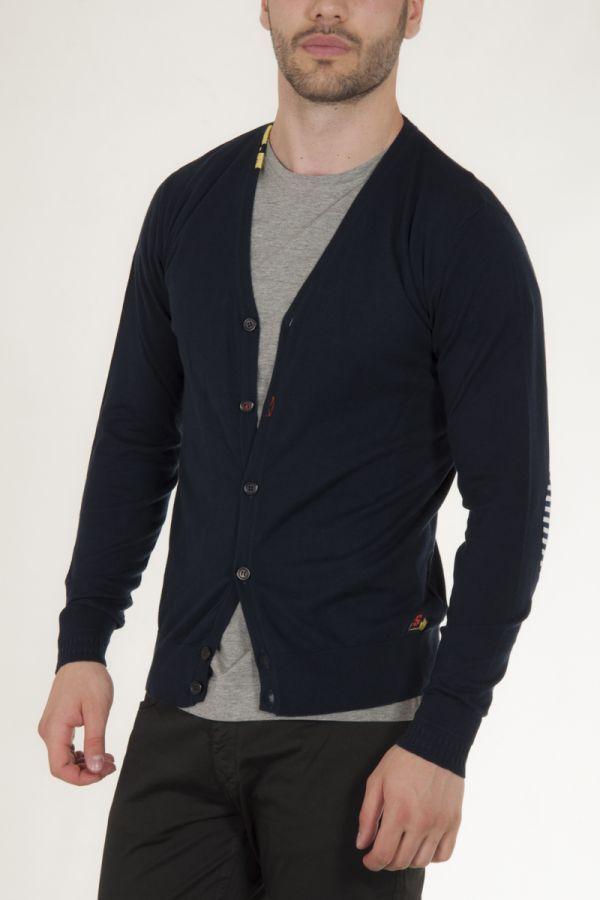 3339d574f6e4 Ζακέτα πλεκτή με κουμπιά μπλε σκούρο αντρικό sorbino | fashion for ...