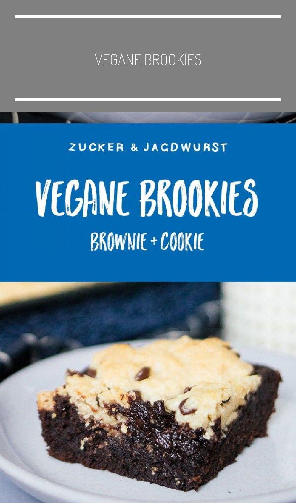 Vegane Brookies selber backen rezept schnell vegan Vegane Brookies