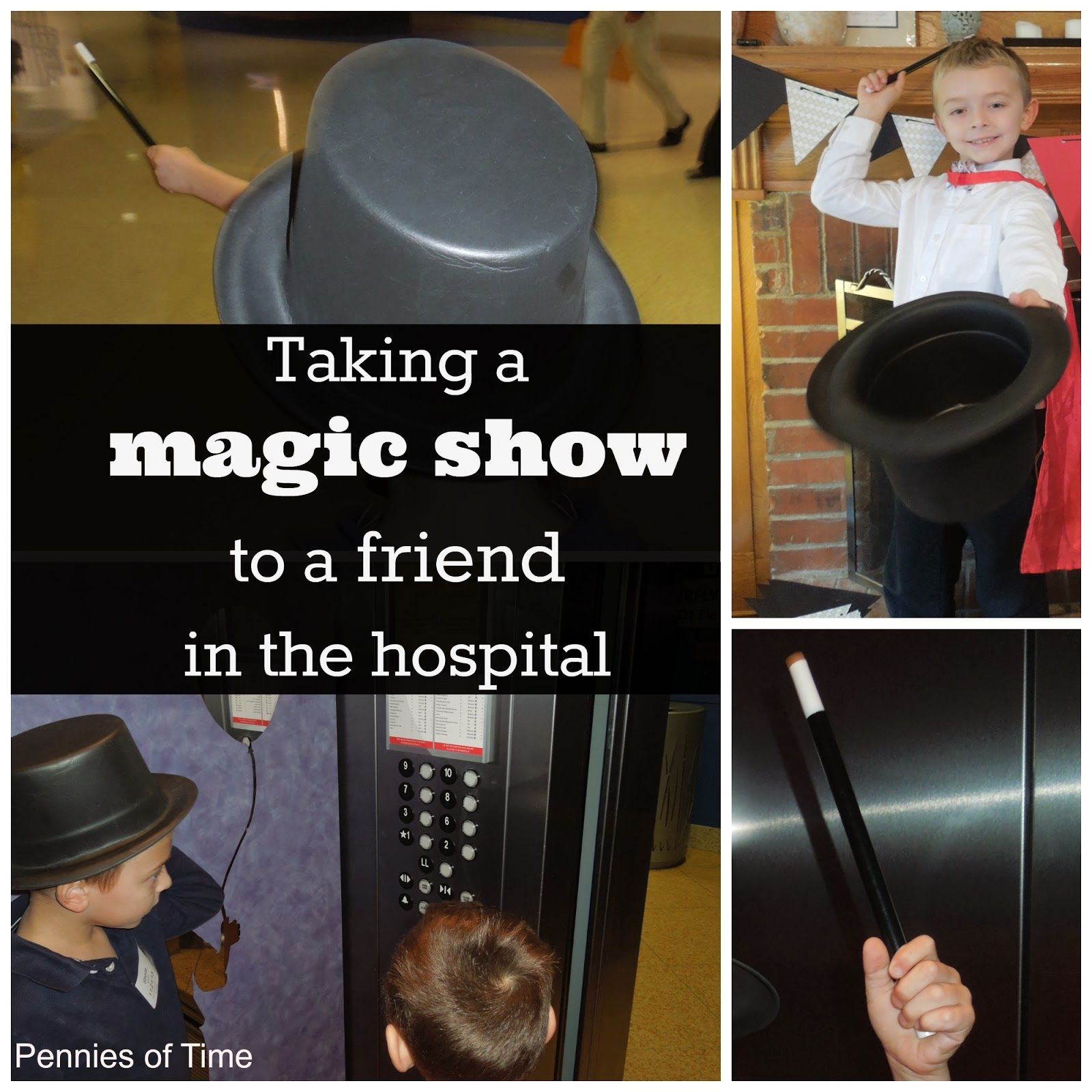 To help a friend that is chronically ill, we brought a Magic Show to him in the hospital.  We had a great time!  Also includes tips on how to help when your friend is hospitalized. #actofkindness #serveothers #CF