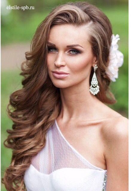 Long hair, wedding hairstyles, hair down hairstyles | Peinados elegantes, Estilos de peinado ...
