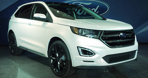 Ford Edge Titanium Nice Nav Voice Interface Ruled Out Due To Brake Pedal Arm My Foot Was On The Arm And It Cant Be Adjusted