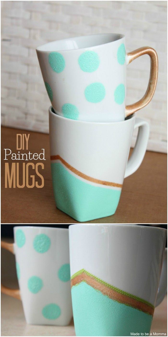 DIY Coffee Mug Art Ideas To Personalize Your Home #mugart