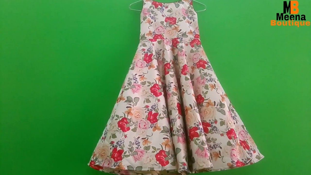 89e4ac31b80 UMBRELLA FROCK CUTTING AND STITCHING IN HINDI    KIDS LONG GOWN - YouTube