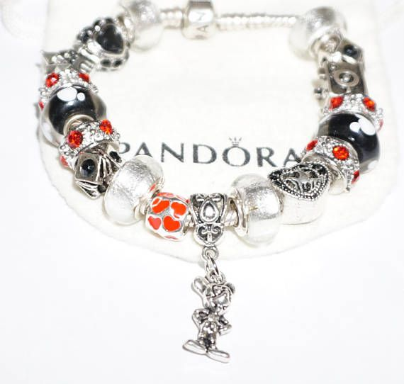 Subtle in Black and White Mickey Authentic Jared Pandora Bracelet