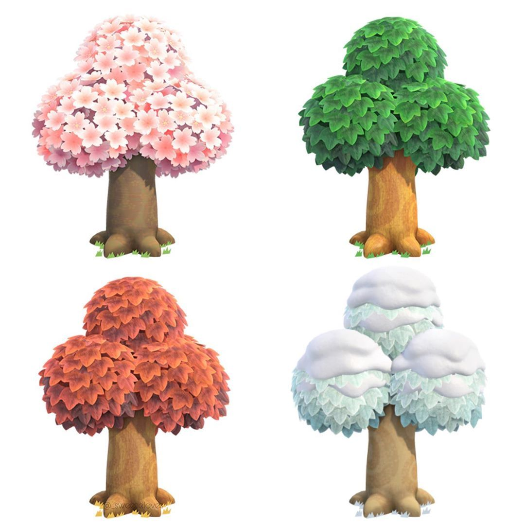 Animal Crossing New Horizons On Instagram Trees Arbres Animal Crossing New Animal Crossing Rock Painting Patterns Cute Anime Wallpaper
