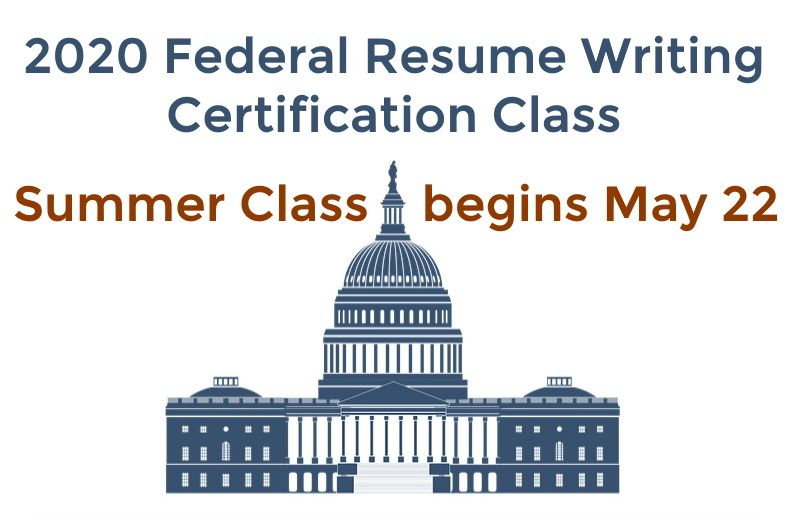 Academy certified federal resume writer training program