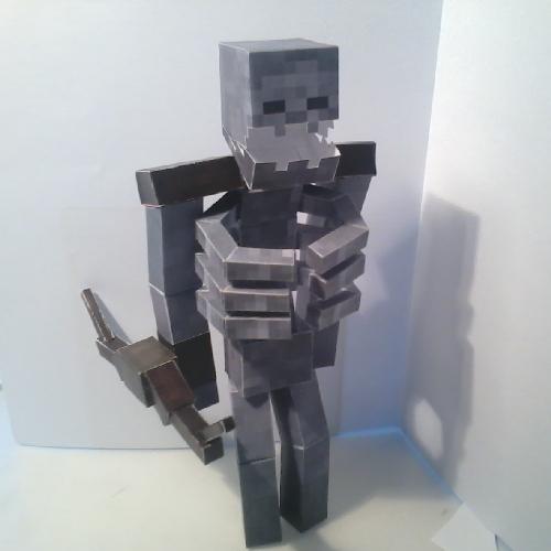 Papercraft Mutant Skeleton Mutant Creatures Mod Minecraft Skeleton Minecraft Crafts Paper Crafts
