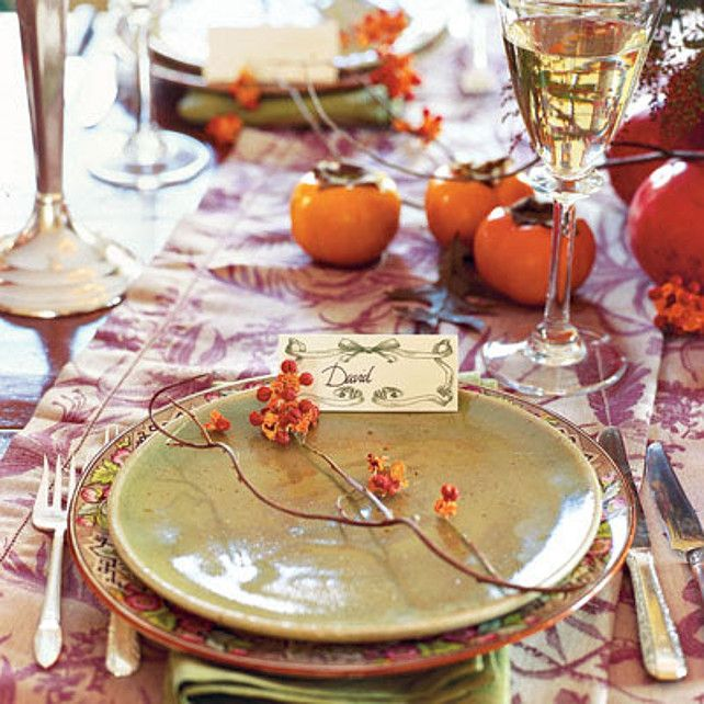 thanksgiving table top decor via party resources - Thanksgiving Table Settings Pinterest