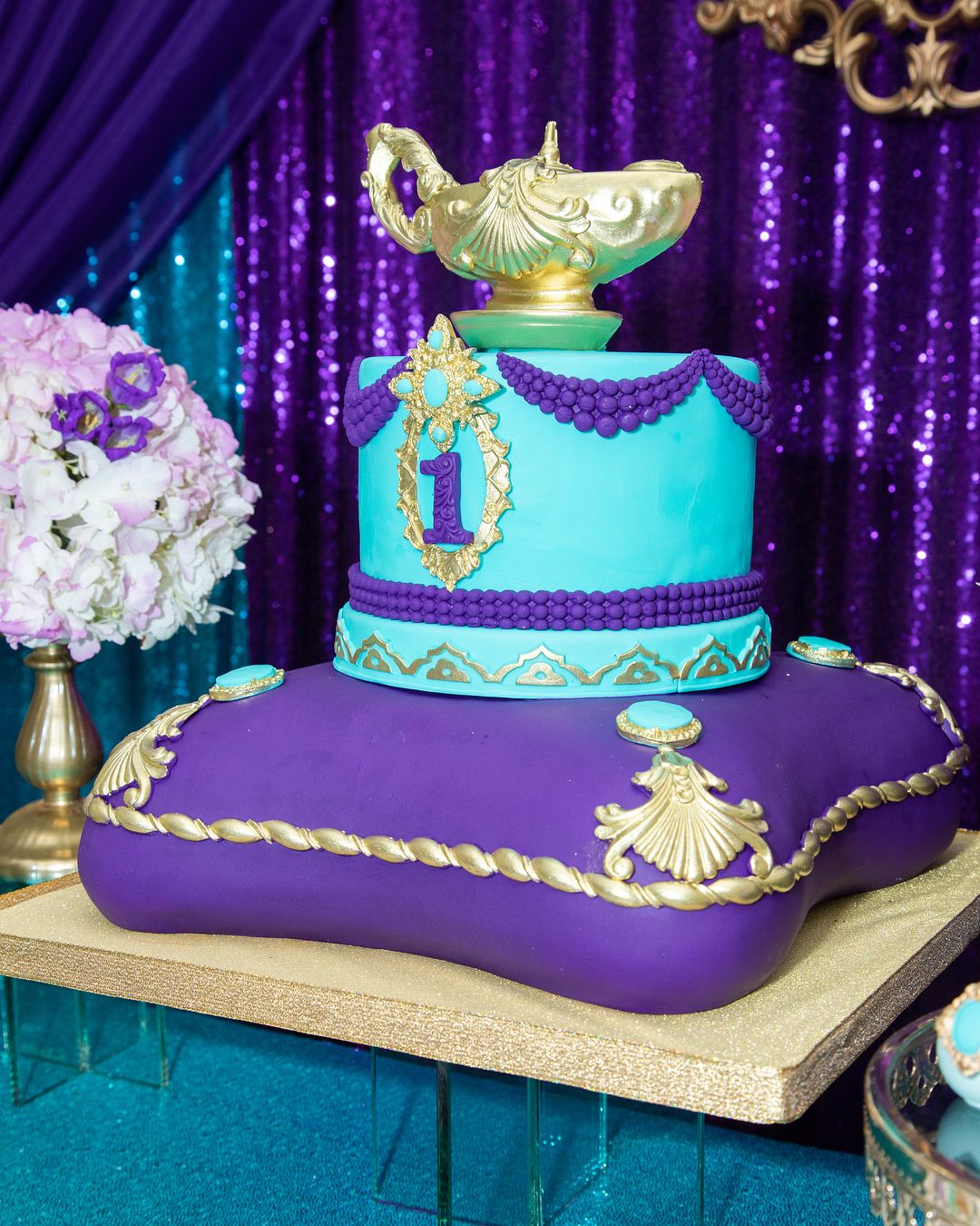 Magnificent Royal Princess Jasmine 1St Birthday Cake By Personalised Birthday Cards Veneteletsinfo
