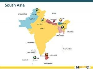 south asia maps countries capitals provinces powerpoint design services presentation designers