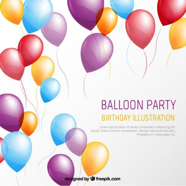Pin by MK on イベント・ポスター Pinterest Balloon party - invite template free download